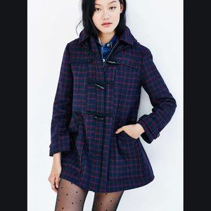 Urban Outfitters Cooperative Duffle Check Jacket